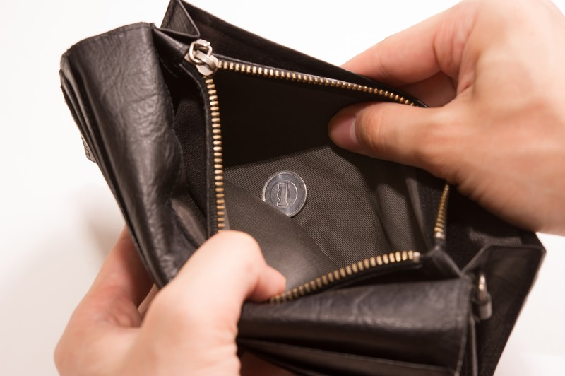 すっからかんのお財布